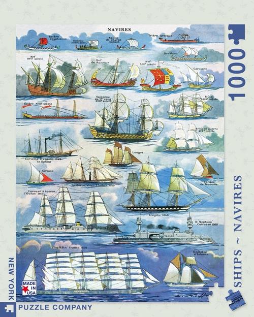 NAVIRES ~ SHIPS- 1000 Pcs