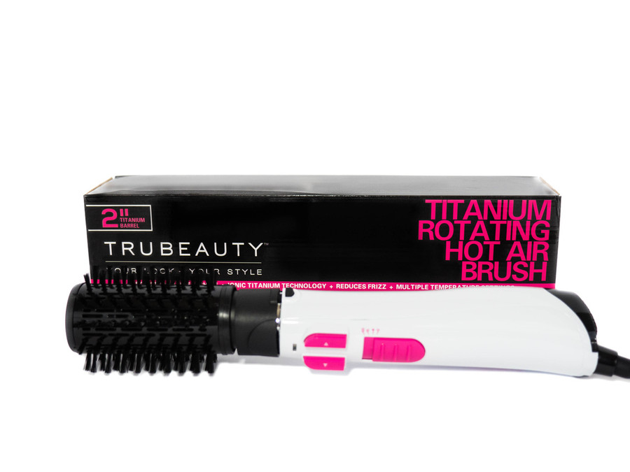 TruBeauty Titanium Rotating Hot Air Brush - White