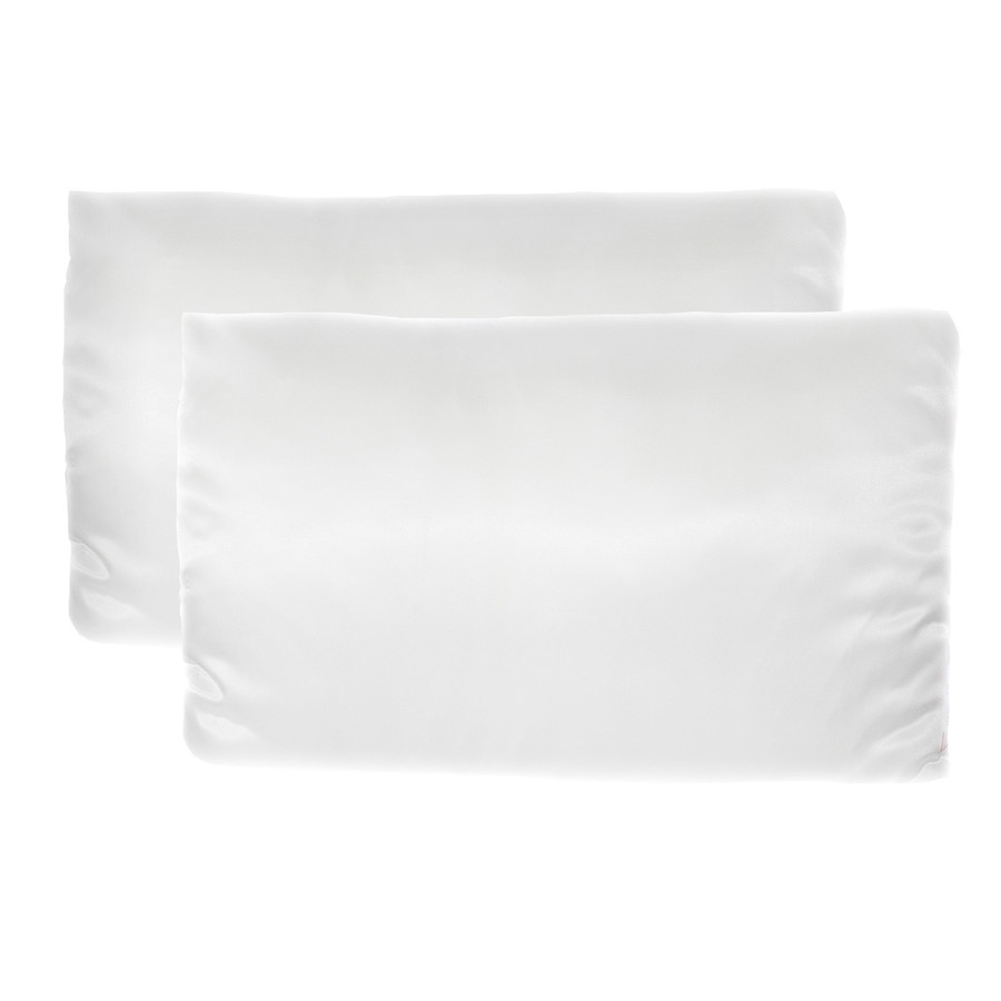 Revive Satin Pillowcase, Set of 2, Standard Sized - White