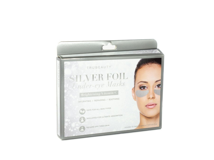 Tru Beauty Silver Foil Under-Eye Mask, Hydrating and Brightening Vitamin C –  5 Pairs