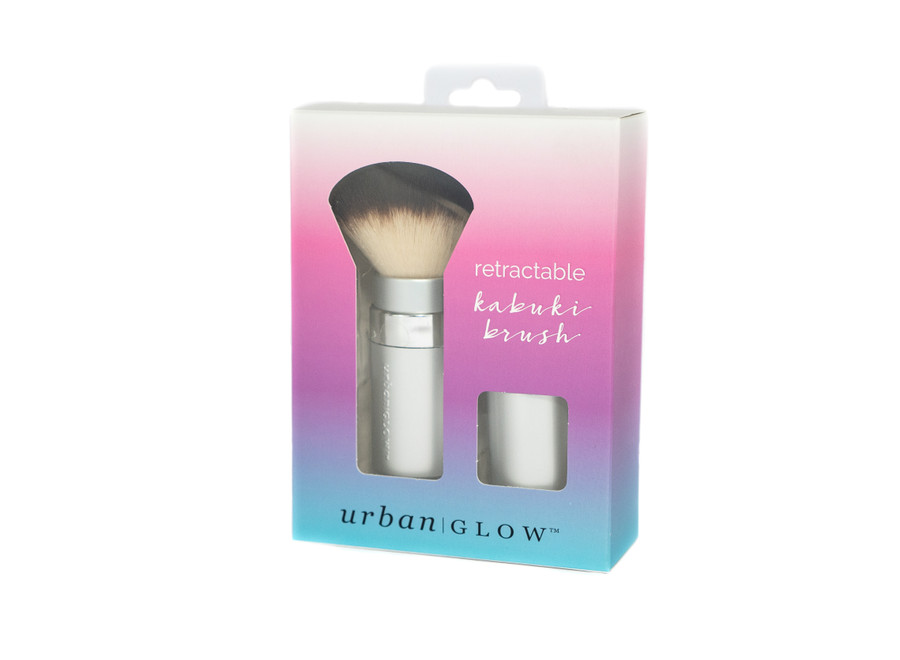 Urban Glow Retractable Kabuki Makeup Foundation Brush for Bronzer and Powder