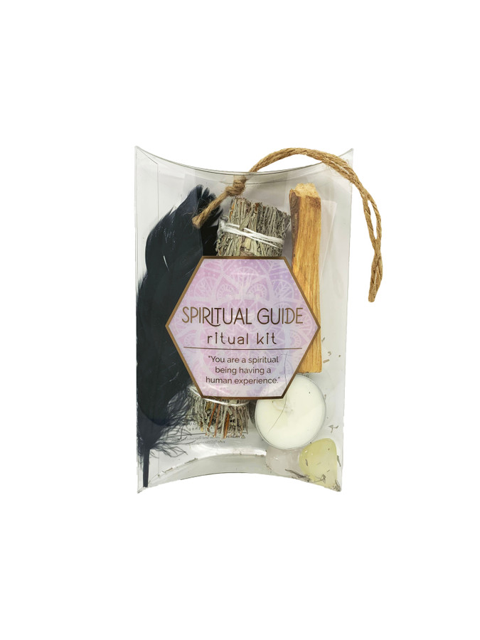 Elevate your energy and expand your awareness of the spiritual realm with this Spiritual Guide Smudge Set.  Intentionally curated to help you connect mind body and spirit as you meditate and listen to the natural rhythms of the planet.