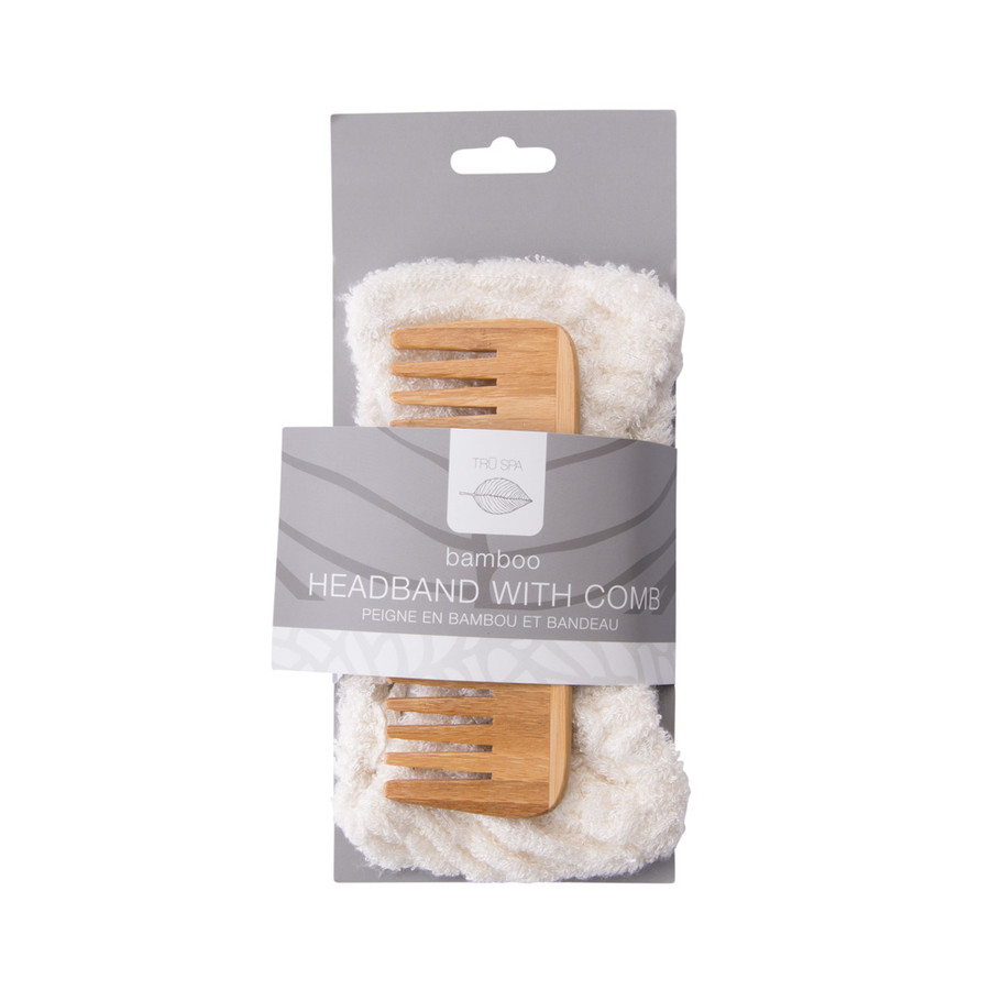 Tru Spa Headband with Comb
