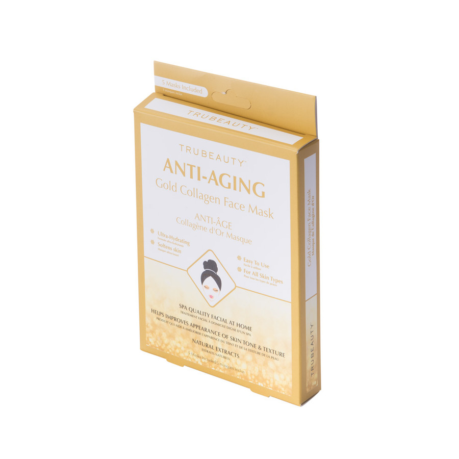 Tru Beauty Anti-Aging Face Mask - Gold - 5 Pack