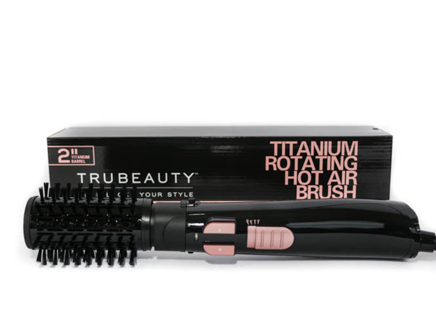 TruBeauty Titanium Rotating Hot Air Brush - Black