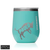 Corkcicle 12 oz Stemless Wine Glass - Turquoise