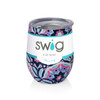 Swig Stemless Wine Cup 12 oz - Mom Life Kaleidoscope
