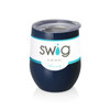 Swig Stemless Wine Cup 12 oz - Mom Life Navy Blue