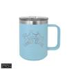 Polar Camel 15 oz Vacuum Insulated Mug with Slider - Light Blue