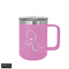 Polar Camel 15 oz Vacuum Insulated Mug with Slider - Light Purple