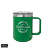 Polar Camel 15 oz Vacuum Insulated Mug with Slider - Green
