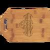 "9"" x 6"" Bamboo Cutting Board with Handle"