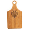 "13 1/2"" x 7"" Bamboo Paddle Shape Cutting Board"