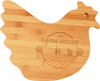 "13 1/2"" x 10 7/8"" Bamboo Hen Shaped Cutting Board"