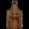 """13 1/2"""" x 7"""" Walnut Paddle Shaped Cutting Board"""