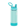 Takeya 16 oz Actives Kids Water Bottle w/ Straw Lid - Surfer/ Lagoon