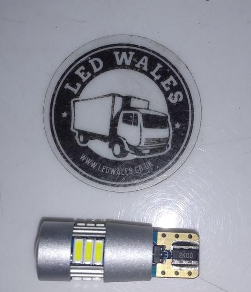 T10 w5w 501 high quality led bulb side light push fit 12v 24v
