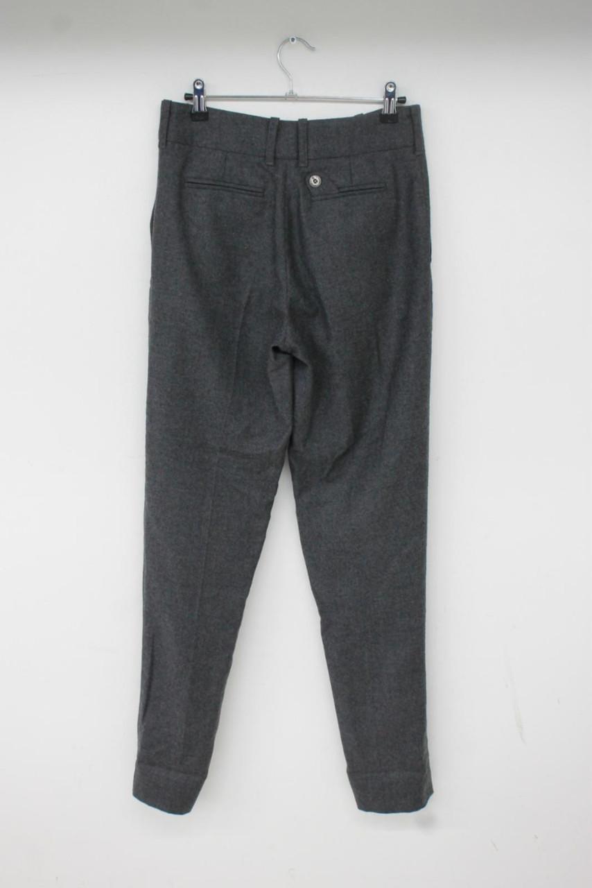 BELSTAFF Ladies Grey 100% Virgin Wool Gold Label Zip Fly Trousers W28 L34