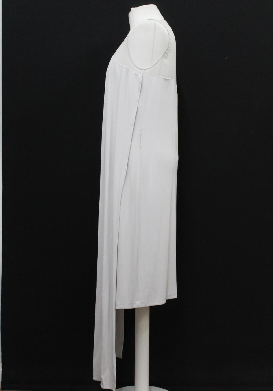 MAISON MARTIN MARGIELA Ladies Mid Grey Shoulder Scarf Midi Dress UK12 IT44 NEW
