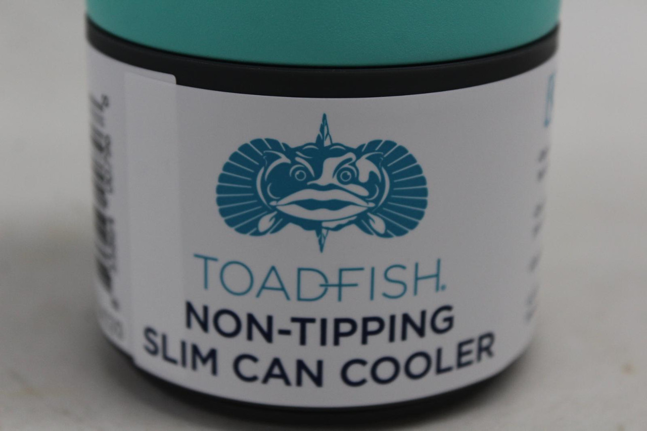 TOADFISH Tall Non Tipping Slim Can Cooler Steel Construction Surface Vacuum NEW