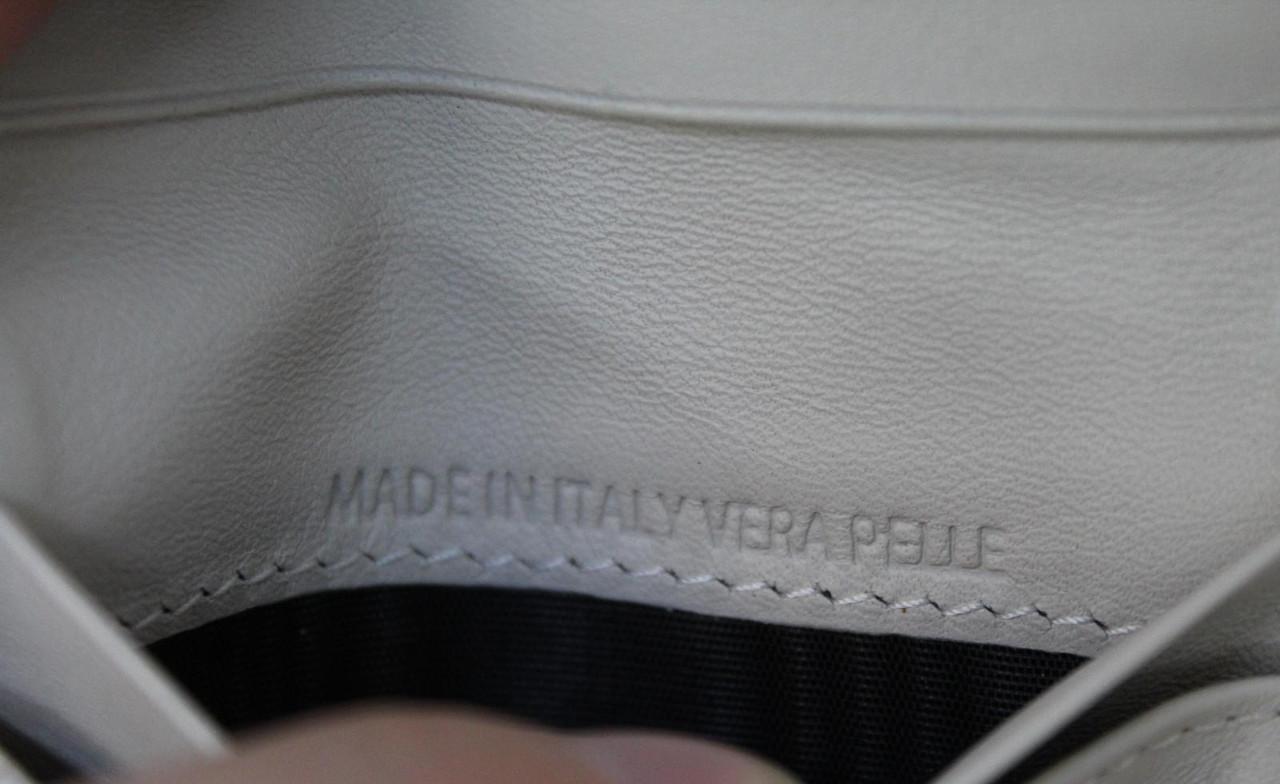 MAISON MARTIN MARGIELA Ladies Cream Patent Leather Cash Coin Card Wallet NEW
