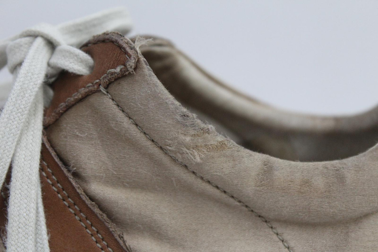MAISON MARTIN MARGIELA Ladies Brown Lambskin Suede Leather Trainers UK3 EU36