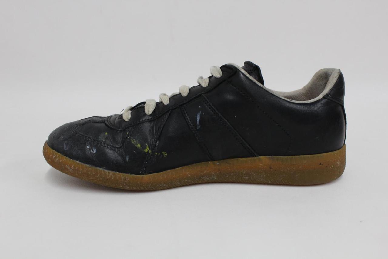 MAISON MARTIN MARGIELA Ladies Black Leather Replica Sneaker Trainers EU36 UK3