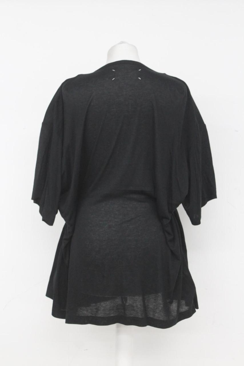 MAISON MARTIN MARGIELA Ladies Black Short Sleeve Tie Waist Tunic Dress S