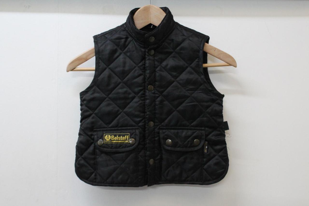 BELSTAFF Ladies Black Quilted Puffer Waistcoat Gilet Winter Jacket IT36 UK4