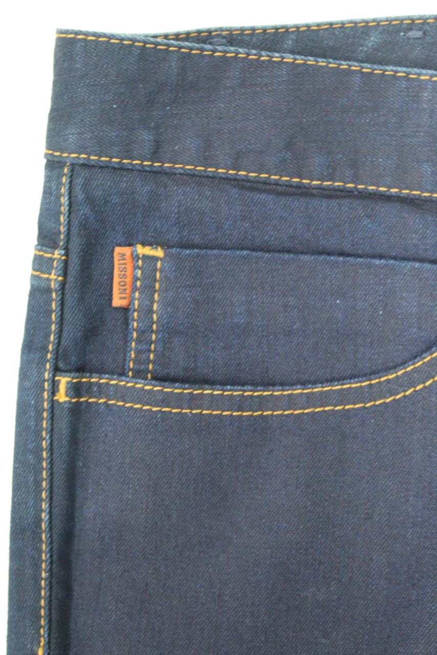 MISSONI Ladies Navy Blue Skinny Low Rise Denim Stretch Jeans Size W40 L37
