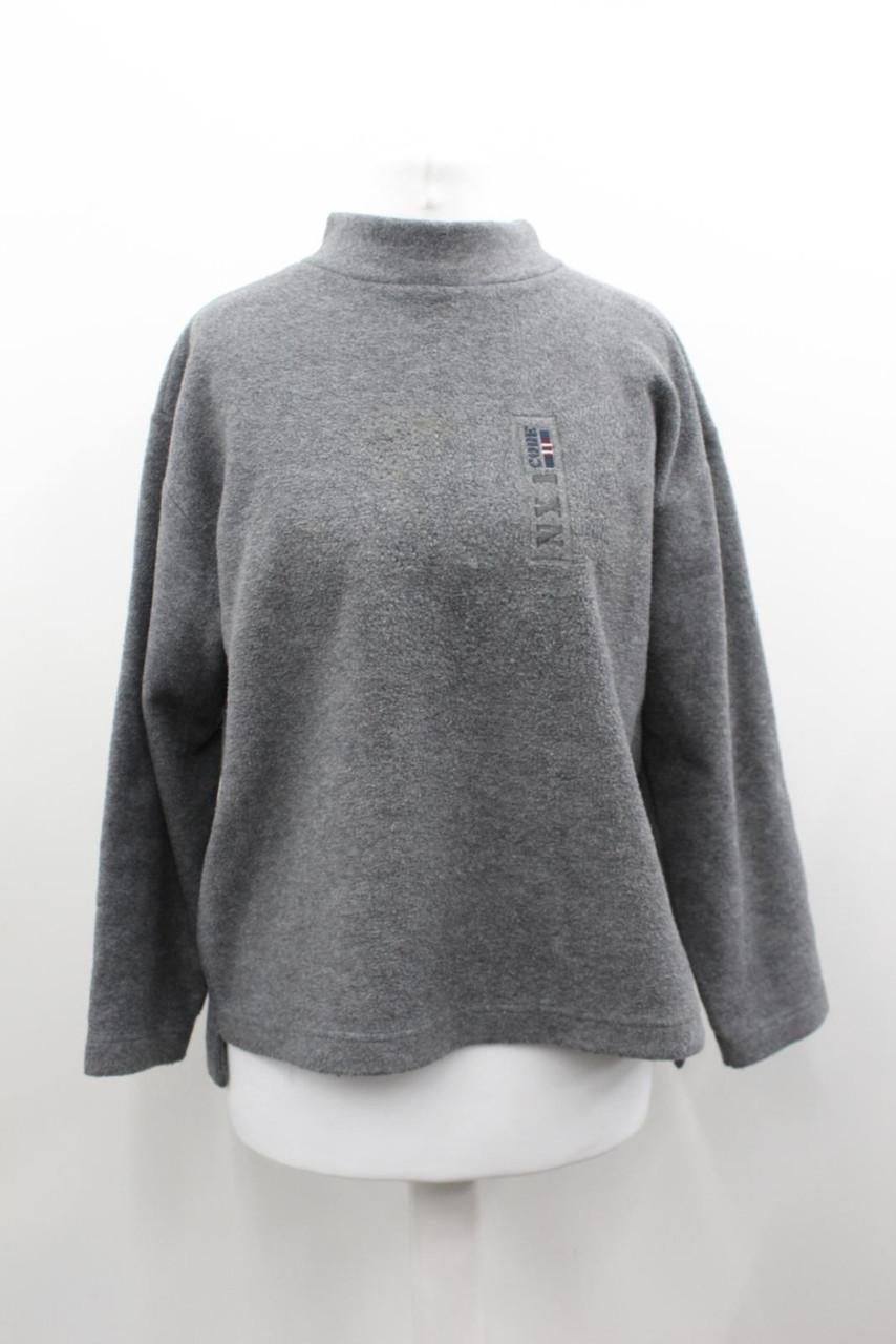 MISSONI Ladies Grey Fleece High Neck Long Sleeve Jumper Approx. Size UK16