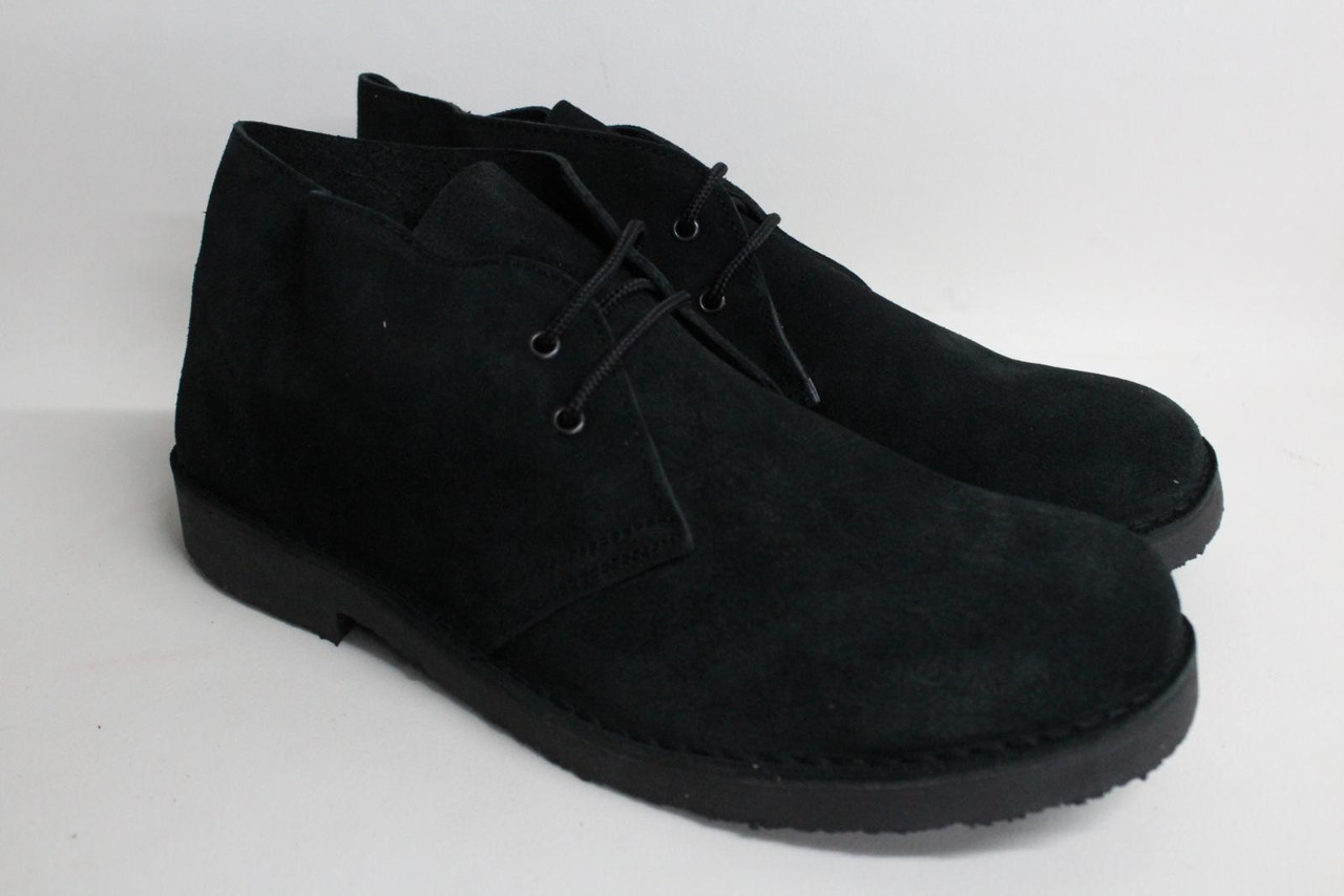 ROAMERS Men's Black Suede Leather Lace Up Ankle Desert Boots EU46 UK12 NEW