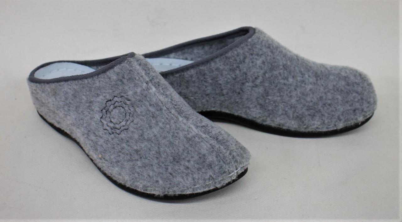 CASA MIA Ladies Grey Textile Uppers Slip-On Open Heel Slippers UK6 EUR39 NEW