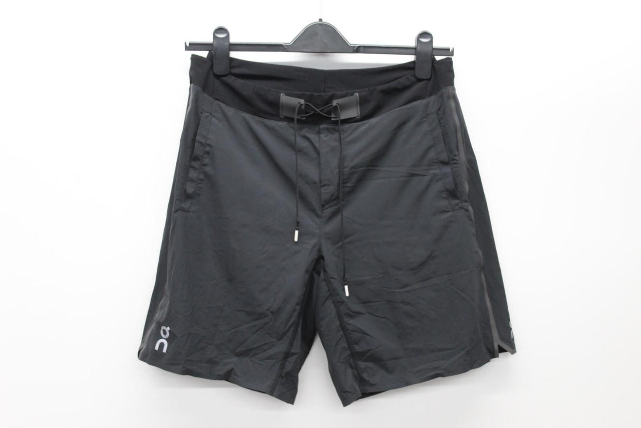 ON Men's Hybrid Black Lightweight Double Layered Drawstring Shorts L
