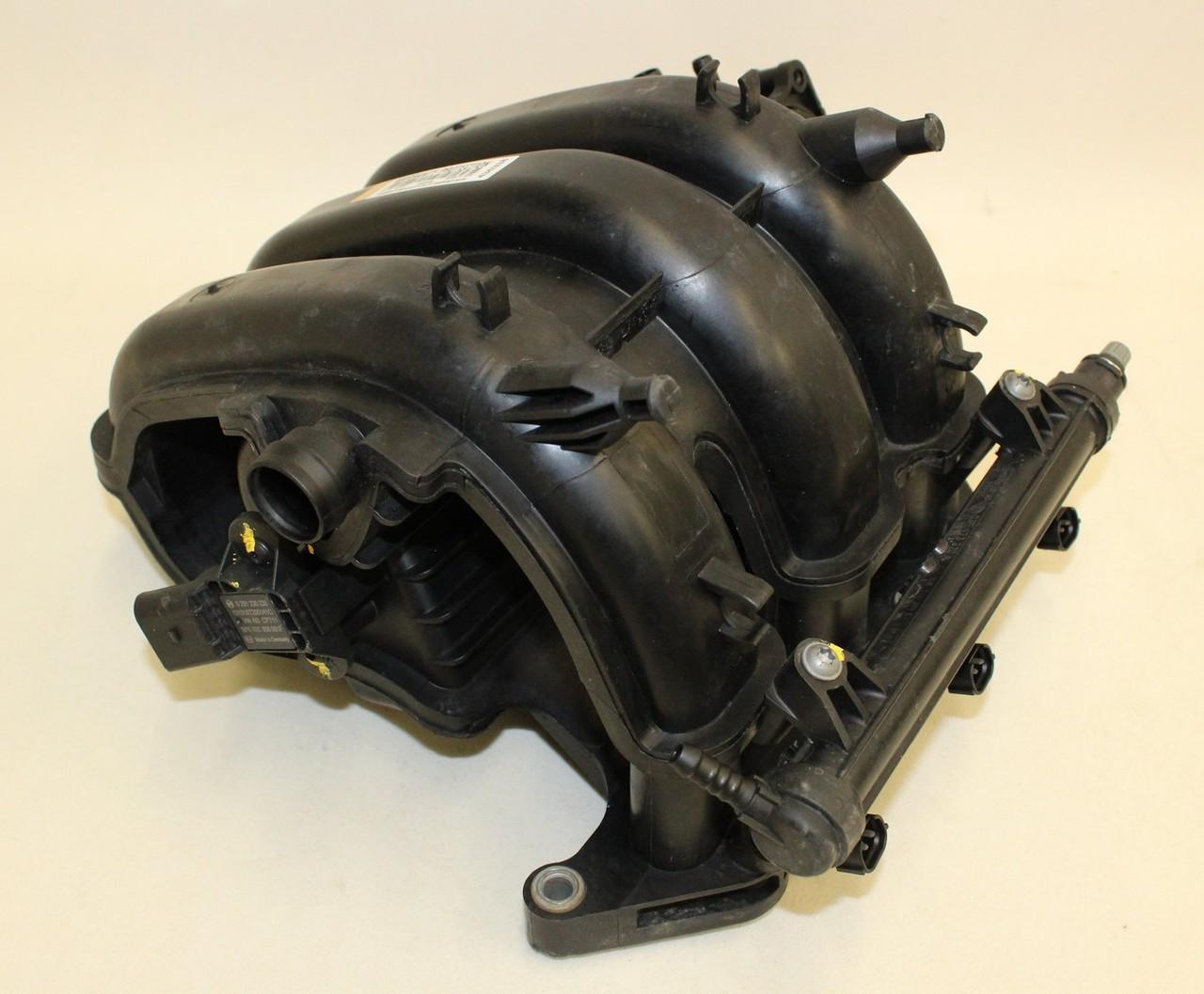 VW Polo 1 2 12V Inlet Manifold Fuel Rail Injectors Pt No O3E129711F '09-13