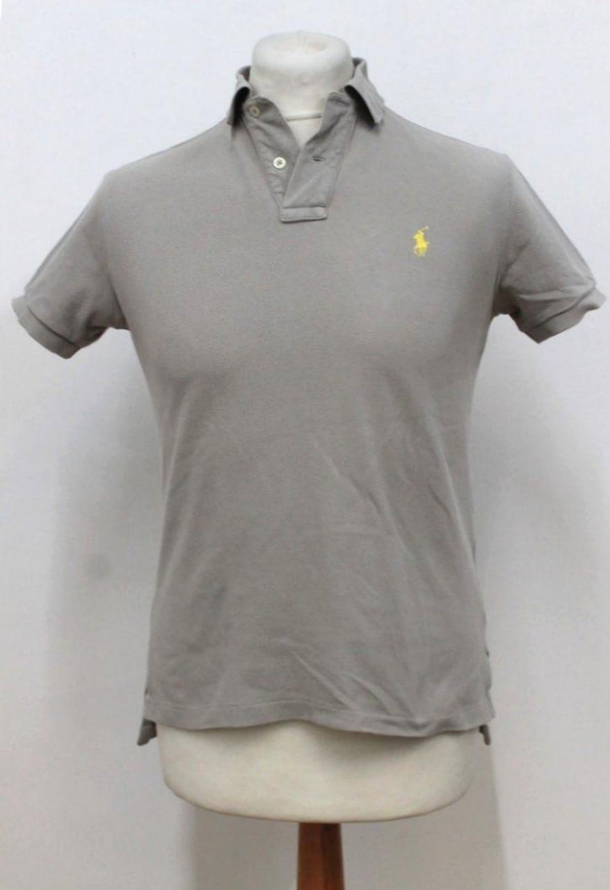 3a8b8f21 RALPH LAUREN POLO Men's Custom Fit Cotton Beige Short Sleeve Polo Shirt S -  Stuff U Sell