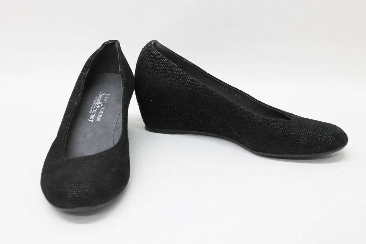 4181619ab3d6 STUART WEITZMAN FOR RUSSELL   BROMLEY Ladies Black Wedges Shoes US6.5 UK4 - Stuff  U Sell