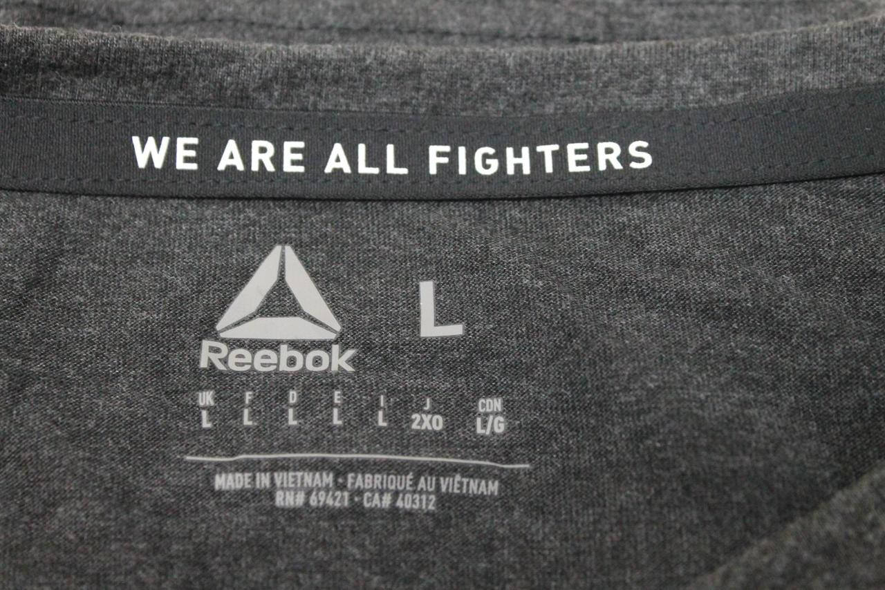 BNWT REEBOK Men's Grey UFC Fight Night Conor McGregor Champ Walkout Top L