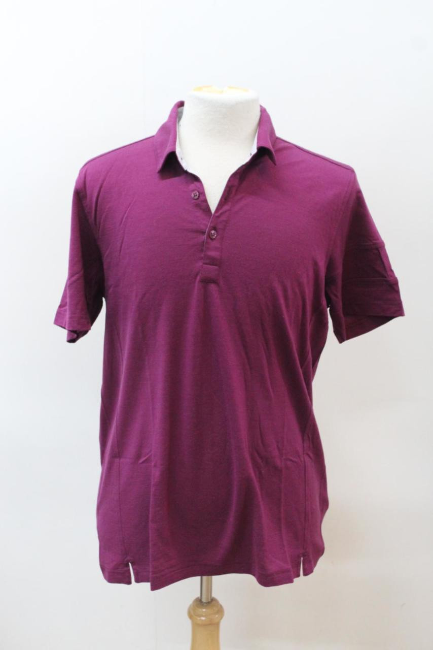 76edf8734 RAPHA Men s Purple Merino Wool Short Sleeve Button Up Polo Shirt Top ...