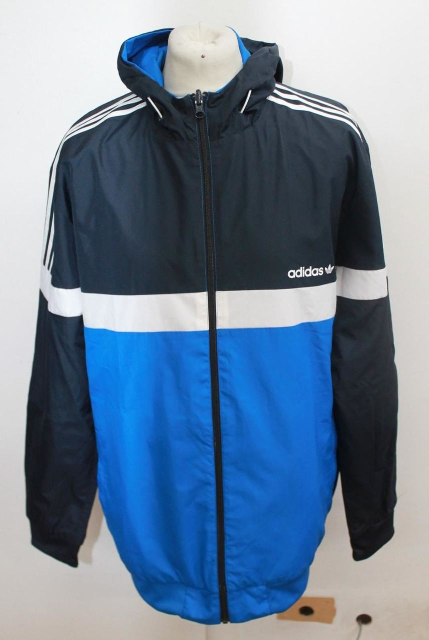 070bba1ad310 NEW ADIDAS ORIGINALS Men s Itasca Blue Reversible Jacket Size Approx ...