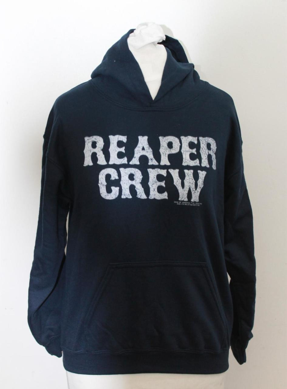 3841d3b3d39 GILDAN Youth Boys  Reaper Crew Sons Of Anarchy Navy Pullover Hoodie Size M