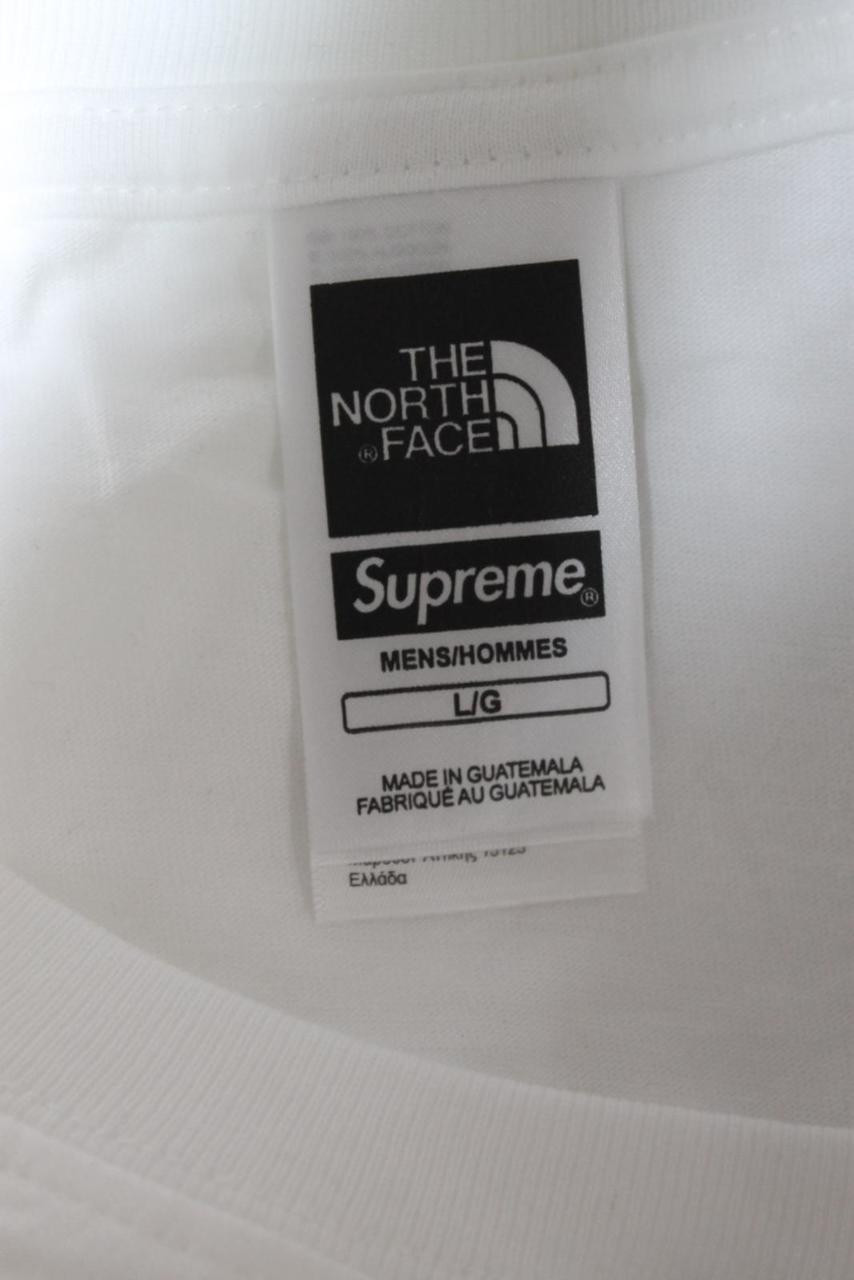 7cd766f0a BNWT THE NORTH FACE Men's Supreme Chrome Tee Metallic Logo White T-Shirt  Size L