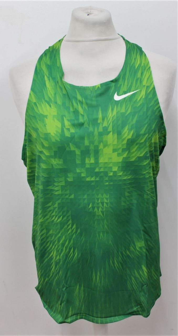 902be10887d6 BNWT NIKE Men s Digital Race Day Elite Green Running Singlet Track Top Size  L - Stuff U Sell