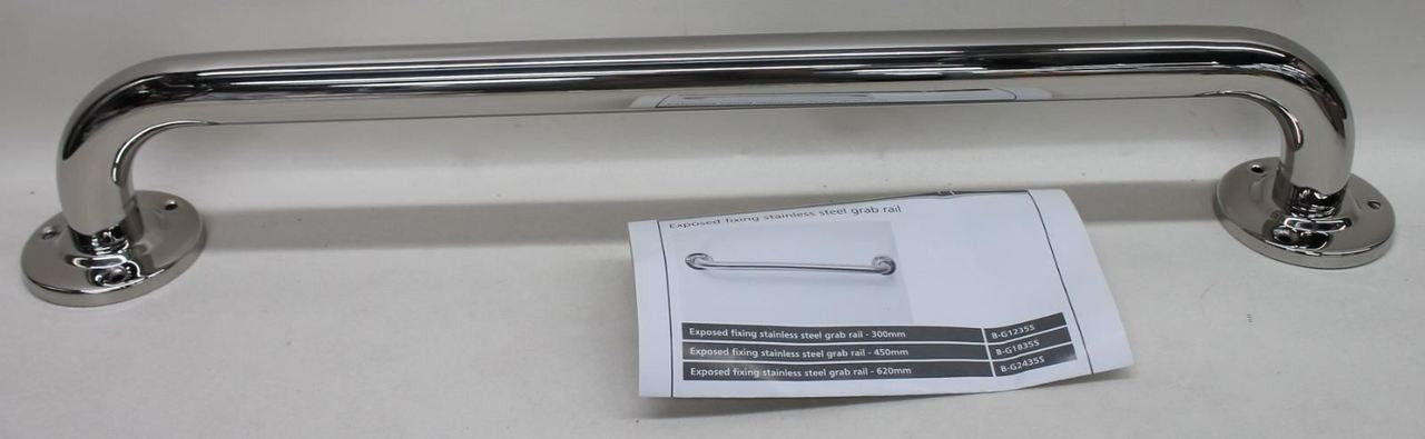 NYMAS NymaPRO B-G2435S/SP 35mm Polished Stainless Steel Grab Rail 610mm NEW