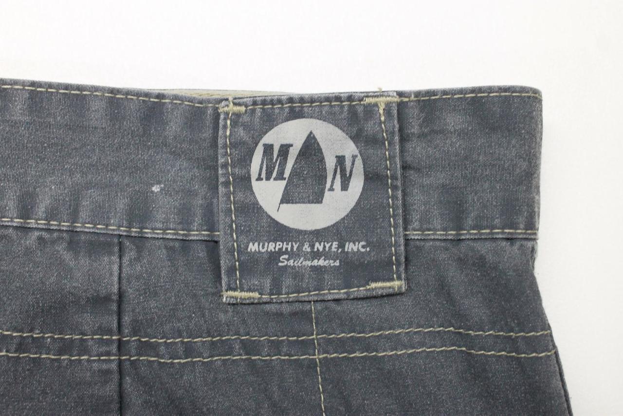 san francisco 93a24 21713 MURPHY & NYE Sailmakers Men's Grey Cotton Loose Fit Cargo Trousers Size W38