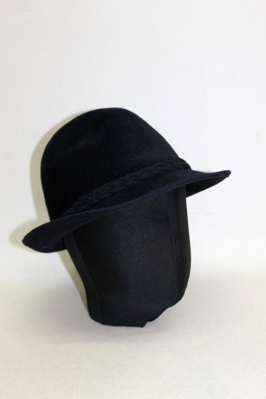 cb6f30c067e SKOCZOW Ladies Navy Blue Felt Braided Trim Fedora/Trilby Style Hat Size  55cm - Stuff U Sell