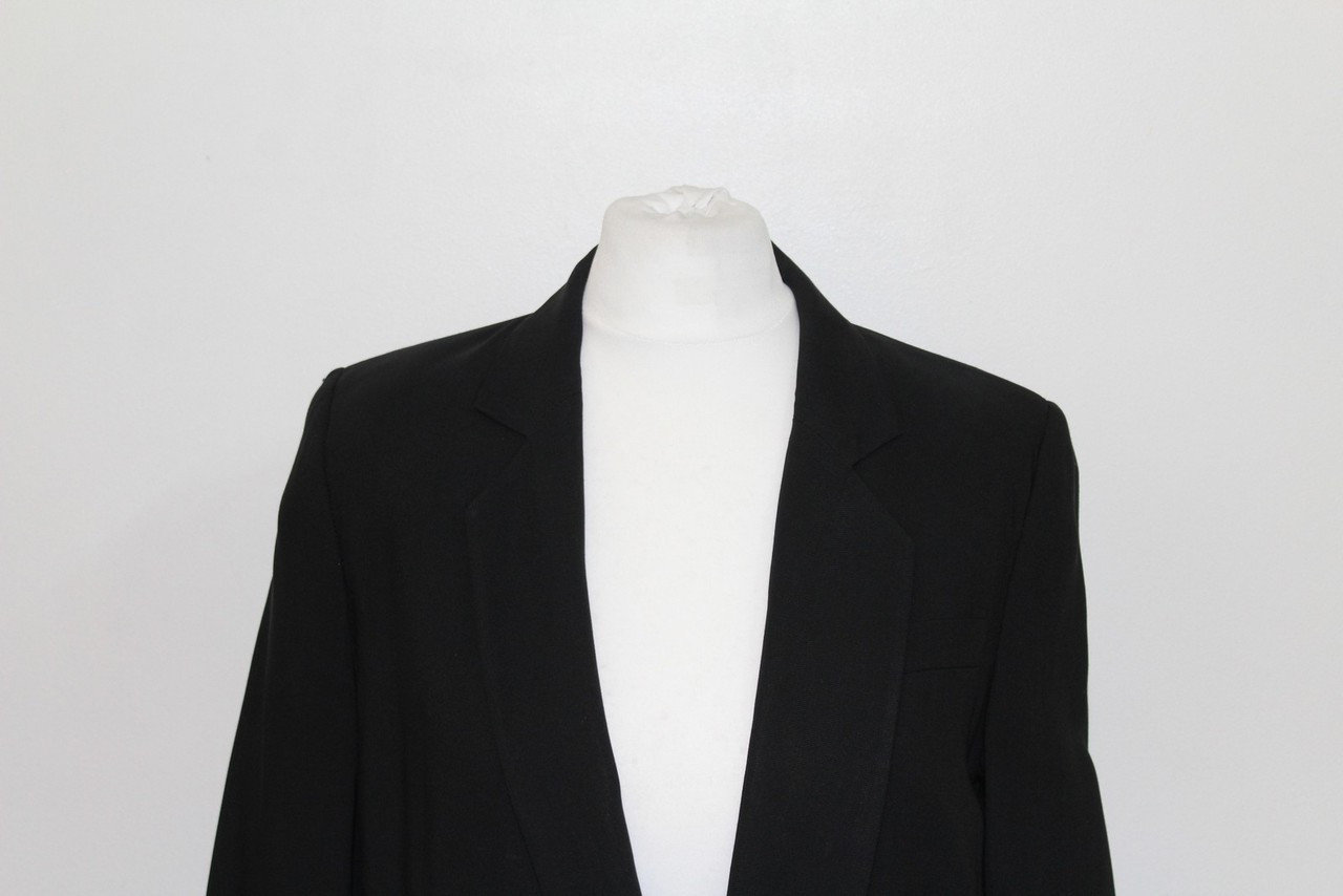 MAISON MARTIN MARGIELA Ladies Black Deep V Neck Blazer Jacket Size UK8 EU36