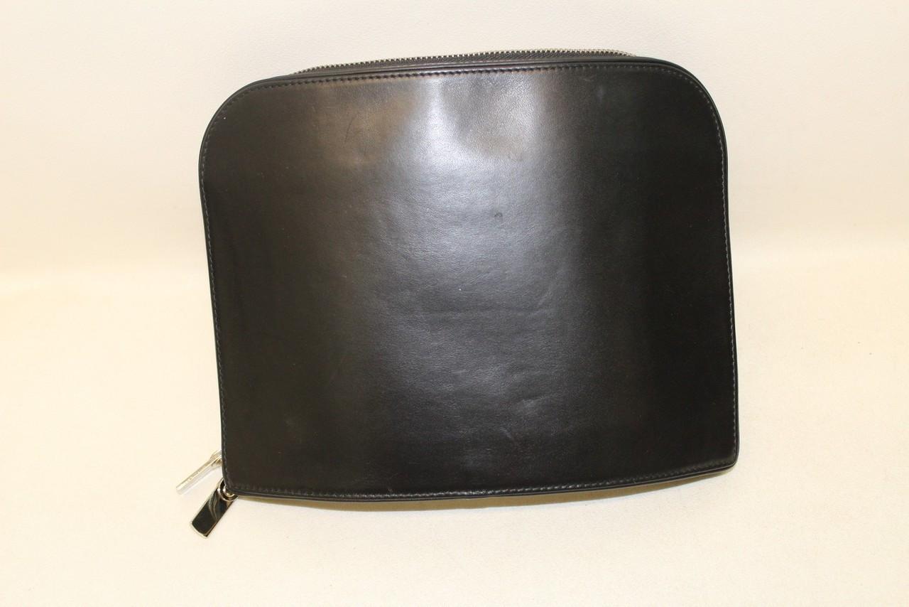 BNWT MAISON MARTIN MARGIELA Ladies Black Leather Mirror Effect 'Notebook' Clutch