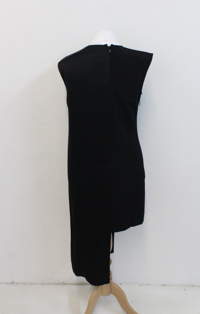 MAISON MARTIN MARGIELA Ladies Black Sleeveless Asymmetric Dress UK10 EU38