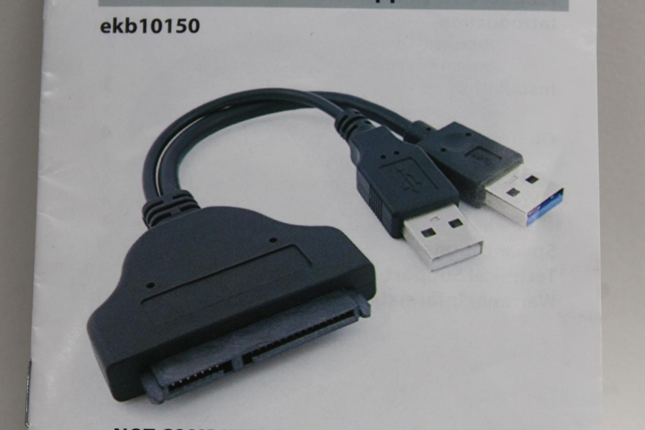 """EKOBUY USB 3.0 To Sata 2.5"""" HDD/SSD Adapter With UASP Support Wire EKB10150"""